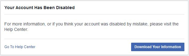Account disabled
